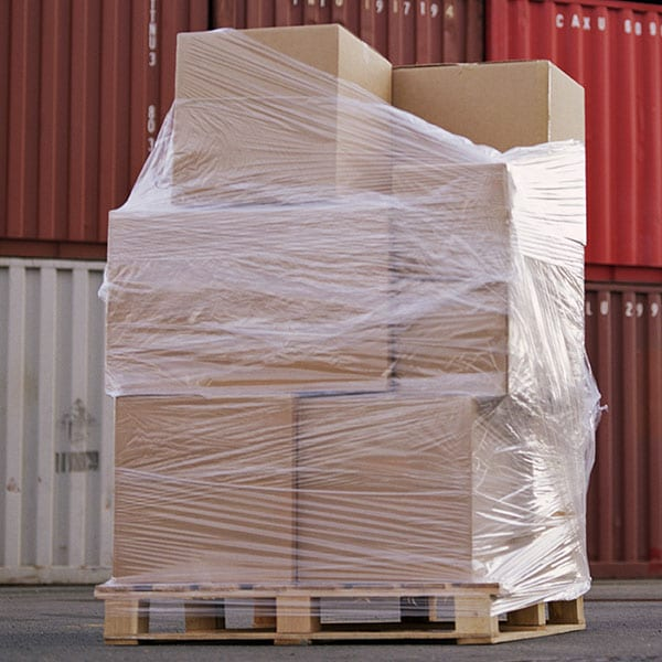 wrapped pallet