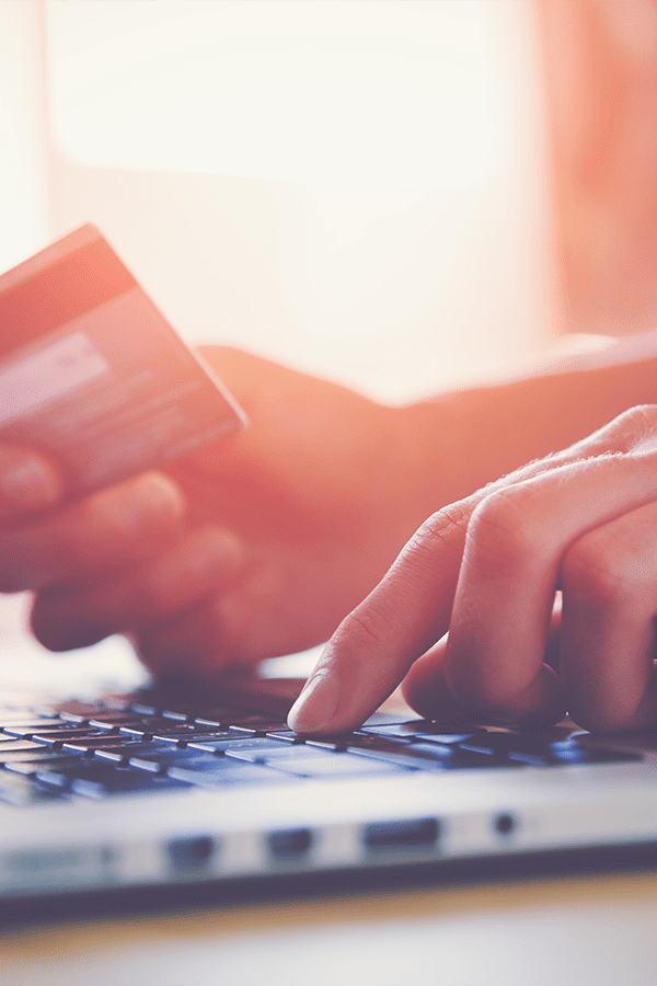 paying online with a credit card